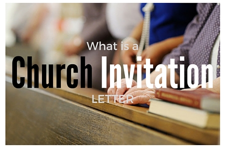 Church invitation letter to a worship event altavistaventures Image collections