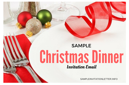 Invitation email sample for any event or party christmas dinner invitation email stopboris Image collections