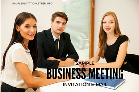 Business Meeting Archives  Sample Invitation Letter