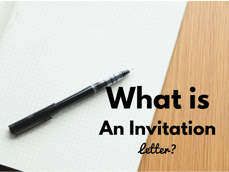 What is an Invitation Letter? - Invitation Letter Definition