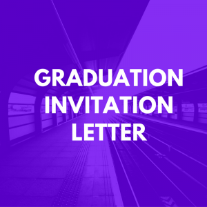 Graduation Invitation Letter Sample Invitation Letter