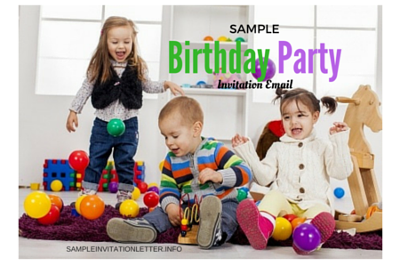 Kid's Birthday Party Invitation Email
